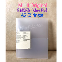 ATK0689MJ A5 Binder Map File Holder Ring Plastik MUJI 555610