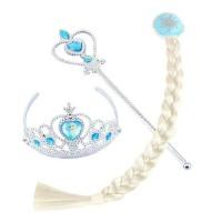 Aksesoris Elsa frozen Mahkota tongkat dan rambut jepit