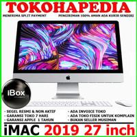 "IMAC 2019 MRR02 27"" inch 5K Retina 3.1GHz 6Core i5 1TB -SEGEL & BARU"