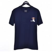 BEAGLE / Men Short Sleeves Tshirt Navy - Premium Nation Original