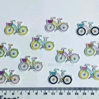 Kancing Kayu Sepeda