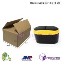 KARDUS | BOX | KARTON PACKING DOUBLE WALL ( 24 x 18 x 18 ) TEBAL POLOS