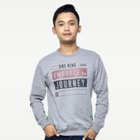 SEYES 1117 Tumblr Tee Sweater Baju Pria Babyterry Premium Grey