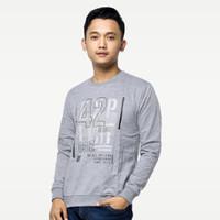 SEYES 1122 Tumblr Tee Sweater Baju Pria Babyterry Premium Grey