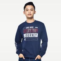 SEYES 1117 Tumblr Tee Sweater Baju Pria Babyterry Premium Navy