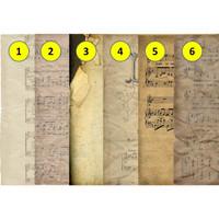 Kertas Scrapbook - Music Old Paper_FFH19 Design