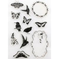Clear Stamp (Stempel Transparan/Bening) - Flying Animal Frame