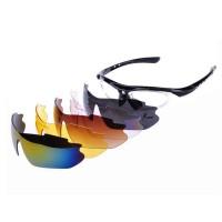 OULAIOU Kacamata Sepeda dengan 5 Lensa Myopia - 0089 - Black
