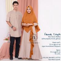 Couple Baju Muslim Gamis Syari dan Koko FAWWAZ Ori NW