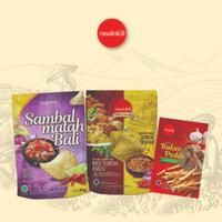 Rasalokal Signature Sambal Matah, Ayam Goreng Lembang, Stik Baso Pedas