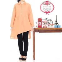 Baju tunik murah | BMT 59 orange | atasan wanita murah|fashion wanita