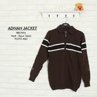 Sweater rajut |Adnan jacket brown | fashion pria