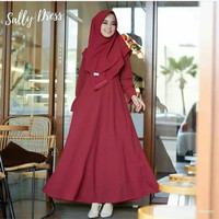 Dress muslim wanita | sally dress murah | baju muslim wanita | diskon