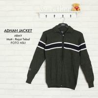 Sweater rajut | Adnan jacket army | fashion pria rajut