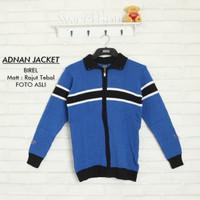 Sweater rajut | adnan jacket blue | fashion pria | baju pria murah