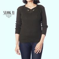 Atasan rajut murah | silang pj knit | baju atasan murah wanita