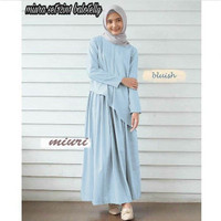 Dress muslim wanita | miuri set light blue |baju murah wanita