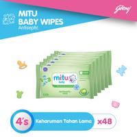 Mitu Baby Antiseptic Tisu Basah Mini [48 x 4's]