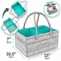 Kinderkeen Multipurpose Caddy Bag - Grey Tosca