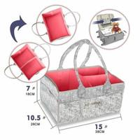 Kinderkeen Multipurpose Caddy Bag - Grey Pink