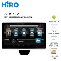 "HIRO STAR 12 – HEADREST MONITOR 12"" - ANDROID 7.1 NOUGAT - FULL HD"