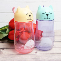 TUMBLER TRANSPARAN AIR MINUM ANIMAL COLOUR BEAR / BPA FREE