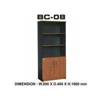 Lemari Arsip BC 08 Tanpa Kaca (Atas rak terbuka)