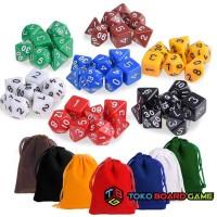 DND Dice Set Polyhedral Game Dice Set with Dice Bag DND D&D MTG