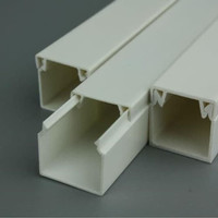 PVC CABLE DUCT (TANPA SLOT/LUBANG) WARNA PUTIH PSD-4545