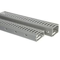 PVC CABLE DUCT (DENGAN SLOT/LUBANG) WARNA ABU PWD-6565