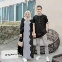 Baju Gamis Wanita Set Syari Qumala Couple Muslim Terbaru MURAH