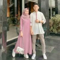 Baju Gamis Wanita Set Syari Farzana Couple Muslim Terbaru MURAH