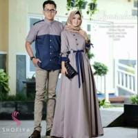 Baju Gamis Wanita Set Syari Asmarada Couple Muslim Terbaru MURAH