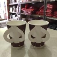 Paper Cup | Gelas Kertas Motif with Handle Uk. 9 oz (isi 50 pcs)