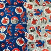 Kain katun motif spiderman