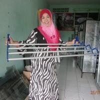 TERLENGKAP Jemuran baju dinding praktis ukuran 1 meter