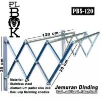 TERUJI Jemuran Lipat Dinding Stainless PLBOK Single 120 CM