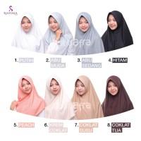 Jilbab afra amira pad antem size M L XL - bergo kaos hijab instan