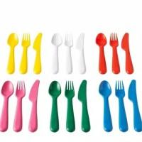 garpu sendok dan pisau plastik 1/2 lusin ikea