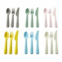 pisau sendok dan garpu plastik ikea 1/2 lusin