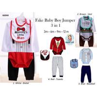 FAKE BABY BOY JUMPER 3 IN 1 / 66044 / BAJU BAYI LAKI-LAKI / BABY VEST