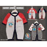 CARTERS JUMPER BASEBALL NEW BORN / PAKAIAN BAYI - BAJU BAYI LAKI LAKI