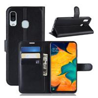 Samsung A30 Dompet Kulit PU Flip Case 1655