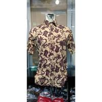 Atasan Kemeja Modern Batik Gold