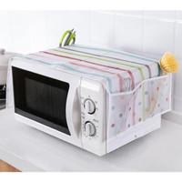 cover microwave oven dengan tempat penyimpanan hba017