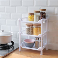 rak plastik serbaguna three layer kitchen bathromm shelf hsa045