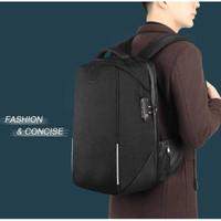 TIGERNU Tas Ransel Backpack RFID Protection dengan TSA Lock - T-B3655