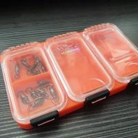kotak pancing waterproof orange