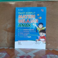 Buku Paket Komplit Materi Belajar Anak Paud TK SD