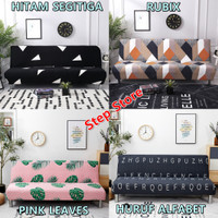 Cover Sofa Bed Import Elastis Bermotif | Cover Sarung Penutup Sofa Bed